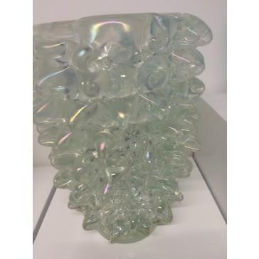 Superbe vase artisanal en verre traditionnel de Murano, modèle oursin