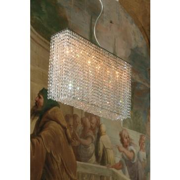 Fontaine de lumière rectangulaire en cristal, fabrication artisanale sur mesure