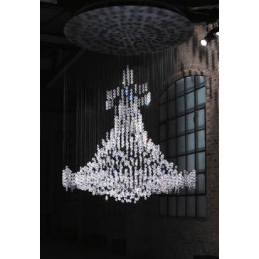Lustre montgolfière sans châssis en cristal de Swarovski