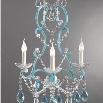 Applique baroque revisitée à perles de verre de Venise de couleur