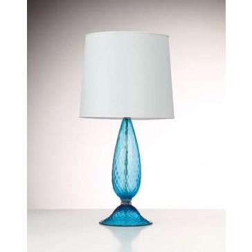 Pied de lampe en verre soufflé de Murano
