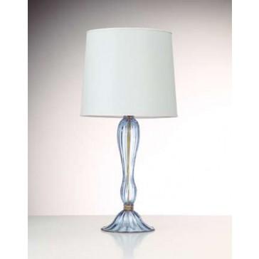 Pied de lampe artisanal en verre soufflé de Murano