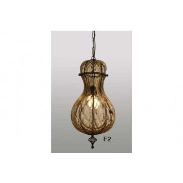 Lanterne artisanale en verre de Venise  en forme de goutte d'eau