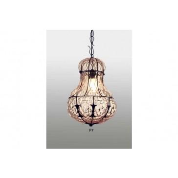 Lanterne ronde typique de la fabrication de Venise, entièrement faite à la main