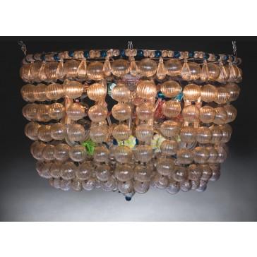 Notre sublime plafonnier en verre soufflé de Murano