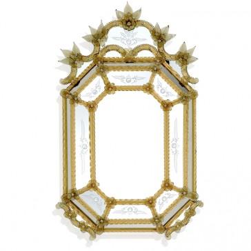 Miroir artisanal en verre de Venise, fabrication garantie sur l'île de Murano
