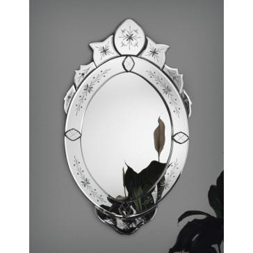 Miroir vénitien traditionnel en verre de Murano