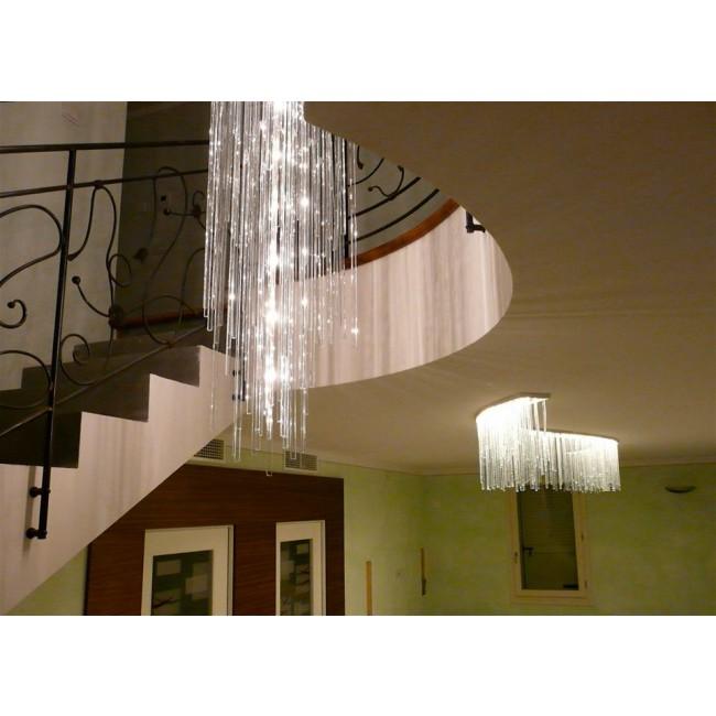lustre fontaine de lumi res plaques de verre lustre cologique lustres design cologiques. Black Bedroom Furniture Sets. Home Design Ideas
