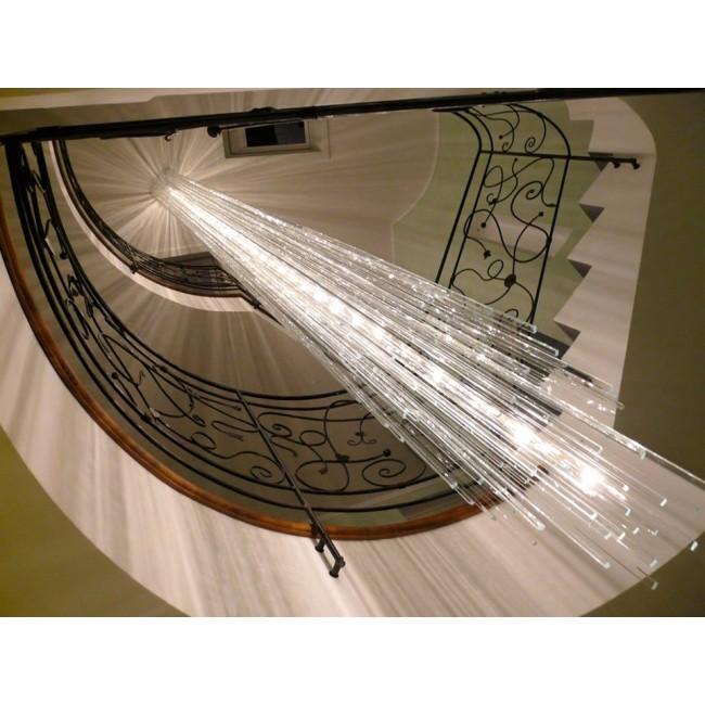 lustre fontaine de lumi res plaques de verre lustre cologique luminaire contemporain i. Black Bedroom Furniture Sets. Home Design Ideas