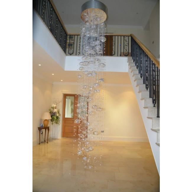 cascade de bulles de verre de Murano - Lustres Murano design en verre ...
