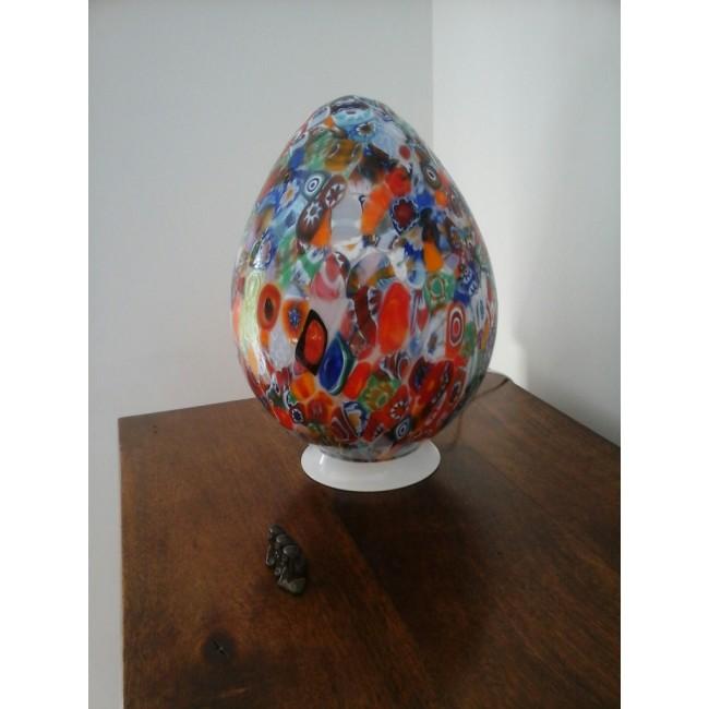 438f6f11d4f7c7 Lampe en verre artisanal de Venise, forme d oeuf - Lampes en verre ...