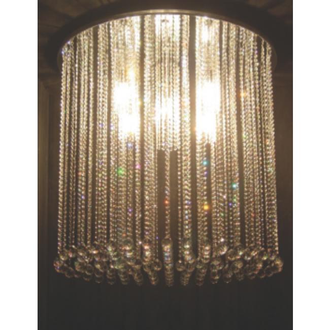 lustre design en forme de fontaine de lumi re pampilles de cristal swarovski i. Black Bedroom Furniture Sets. Home Design Ideas