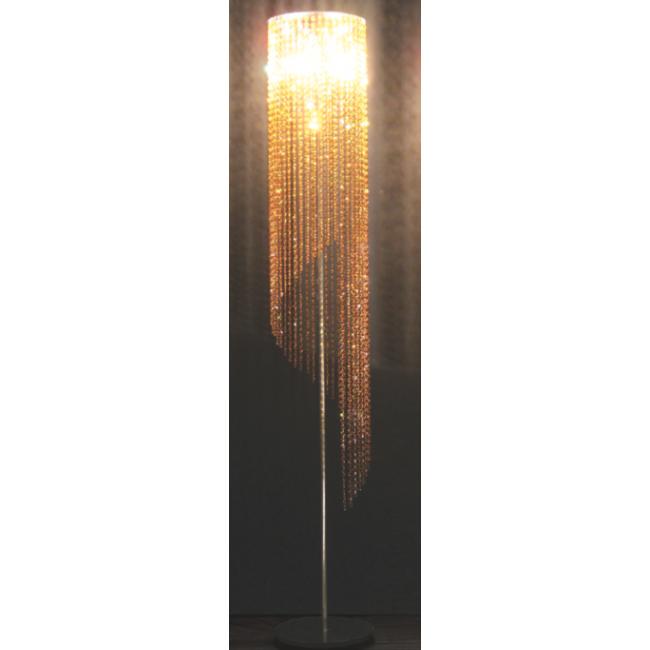 lampe design sur pied en forme de spirale cristal swarovski lampes sur pied luminaire. Black Bedroom Furniture Sets. Home Design Ideas