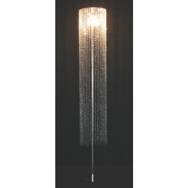 fontaine de lumi re sur pied chrom en cristal de swarovski i. Black Bedroom Furniture Sets. Home Design Ideas
