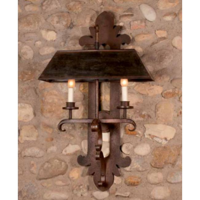 Applique en fer forg avec abat jour fabrication for Applique murale exterieur fer forge