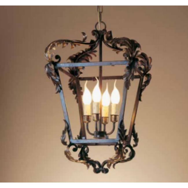 Lanterne baroque traditionnelle florentine en fer forg for Porte lanterne fer forge