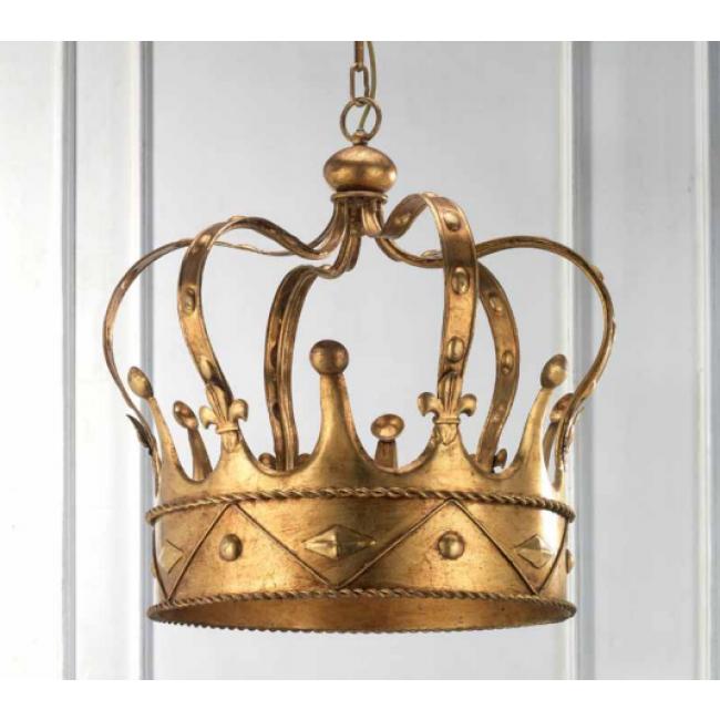 Applique en forme de couronne en fer forg dor la for Appliques murales en fer forge