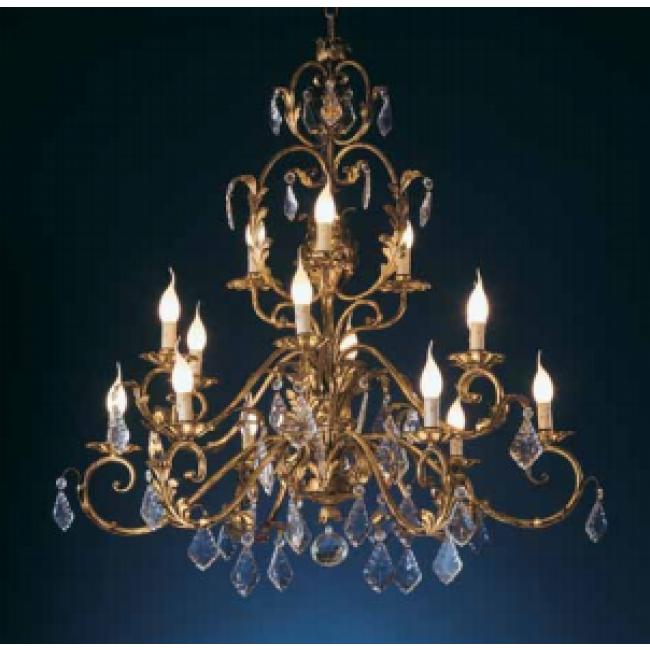 superbe lustre style baroque pampilles de cristal glac lustres baroques i. Black Bedroom Furniture Sets. Home Design Ideas