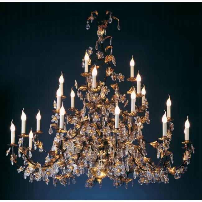 merveilleux lustre fleurs de cristal dor l 39 or fin i. Black Bedroom Furniture Sets. Home Design Ideas