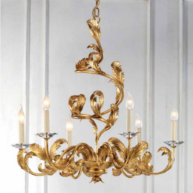 lustre artisanal dor la feuille et pendeloques de cristal taill lustres baroques i. Black Bedroom Furniture Sets. Home Design Ideas