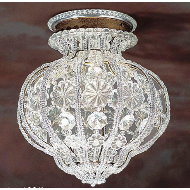 plafonnier de style baroque pampilles et marguerites de cristal i. Black Bedroom Furniture Sets. Home Design Ideas