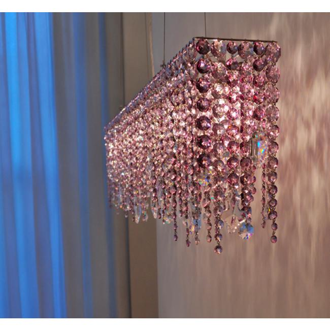 fontaine de lumi re rectangulaire en cristal fabrication artisanale sur mesure i. Black Bedroom Furniture Sets. Home Design Ideas