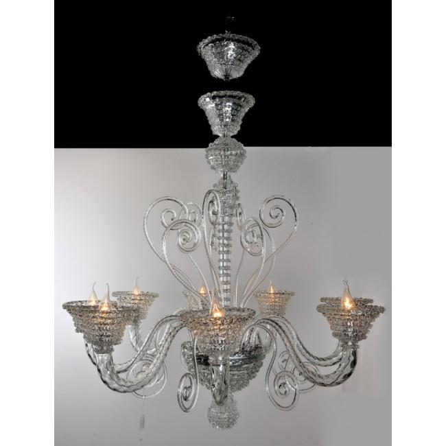 lustre de murano style art d co en verre de venise. Black Bedroom Furniture Sets. Home Design Ideas