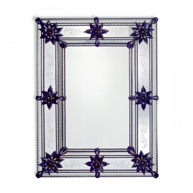 Exceptionnel miroir en verre de venise fabriqu murano for Fabrication de miroir