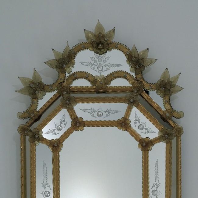 Miroir artisanal en verre de venise fabrication garantie for Miroir artisanal