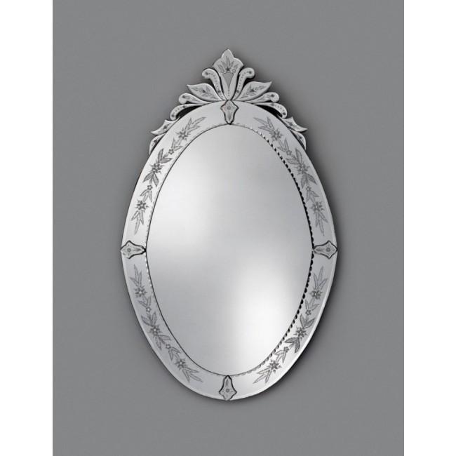Miroir oval traditionnel v nitien murano verre de for Miroir venitien murano