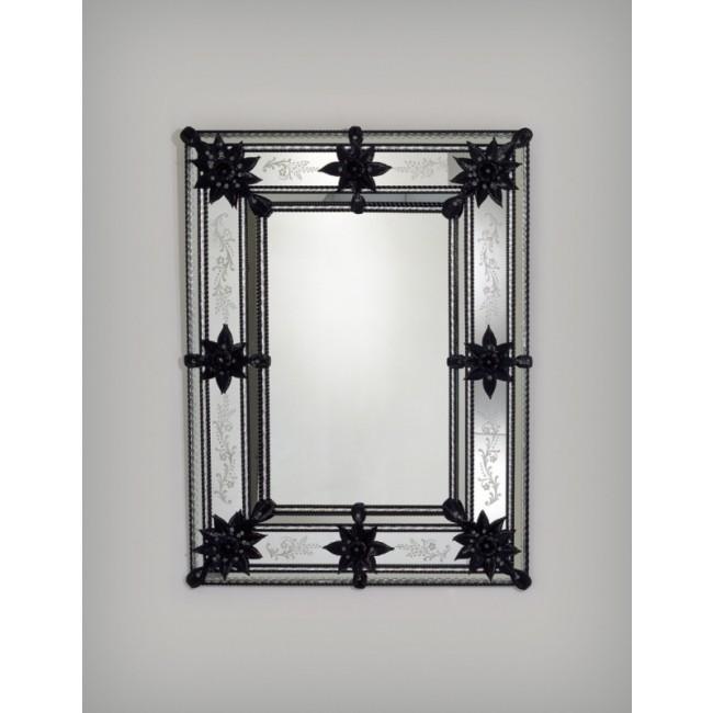 Exceptionnel miroir en verre de venise fabriqu murano for Miroir collable