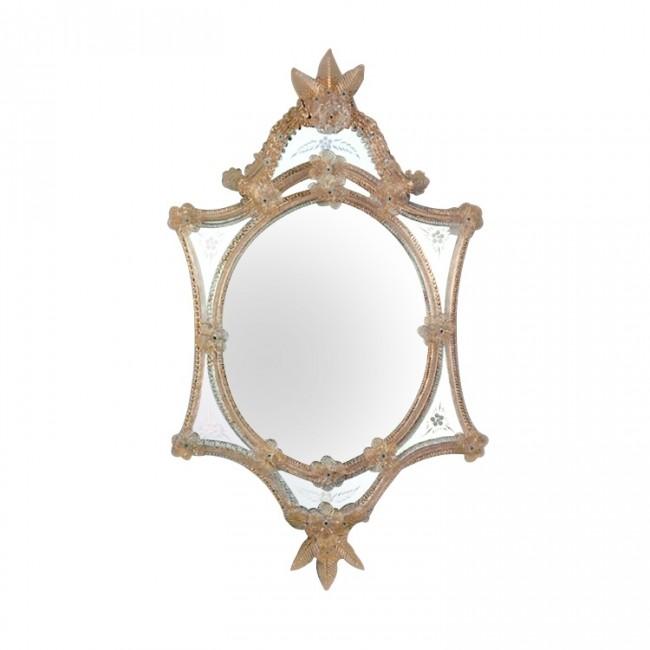 Miroir artisanal et traditionnel en verre de murano i for Miroir artisanal