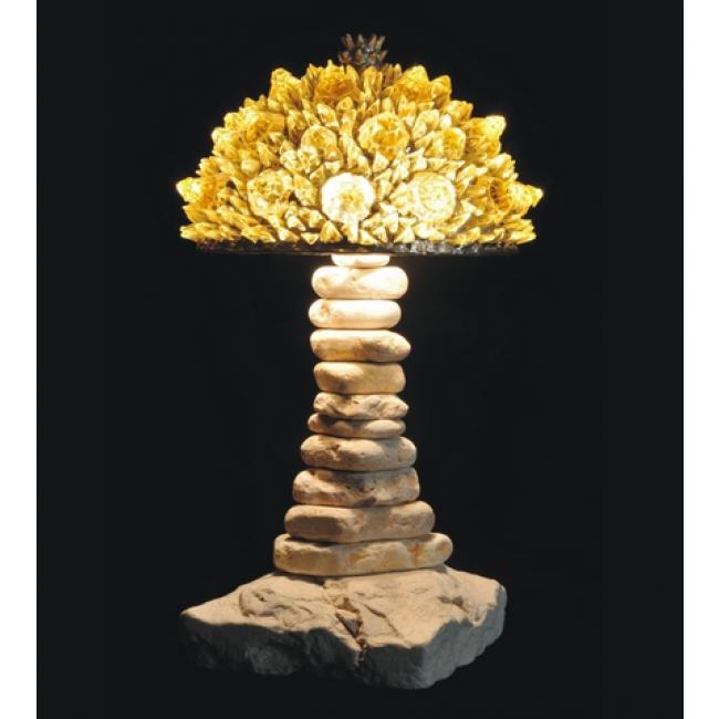 lampe artisanale fabriqu e partir de verre recycl mod le jaune i. Black Bedroom Furniture Sets. Home Design Ideas