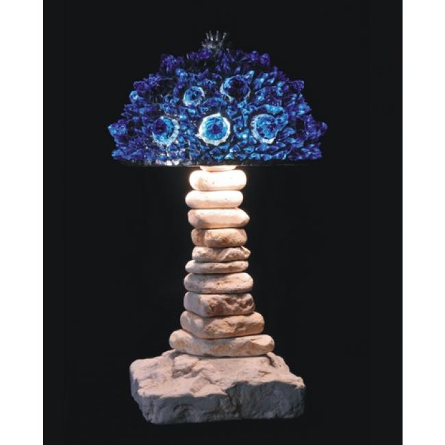 lampe artisanale fabriqu e partir de verre recycl mod le bleu fonc i. Black Bedroom Furniture Sets. Home Design Ideas