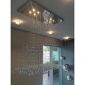 Fontaine de lumière et cristal en forme de pyramides de cristal Swarovski
