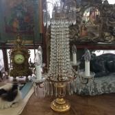 Girandole baroque à pampilles de cristal
