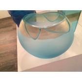 Vase artisanal en verre de Murano, modèle Aquarium