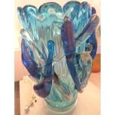 Vase en verre artisanal de Murano, modèle Opulence.