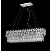 Lustre fontaine de lumière à pampilles en amande