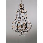 Lustre baroque en forme de poire, fabrication artisanale traditionelle