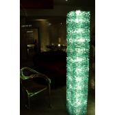 Lampe monumentale en verre, fabrication artisanale