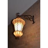 Lanterne vénitienne en verre soufflé de forme traditionnelle