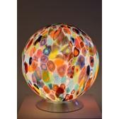 Lampe boule en verre soufflé de Murano, verre artisanal de Venise