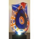 Vase artisanal en verre de Murano, pièce unique