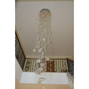Fontaine lumineuse en cascade de bulles de verre de Murano