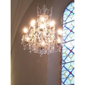 Sublime lustre baroque à pampilles, 12 lumières sur 2 niveaux