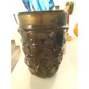 Vase artisanal en verre de Murano, modèle Pomme de Pin