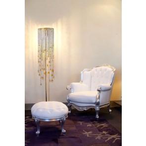 Fontaine lumineuse sur pied, cascade de cristal