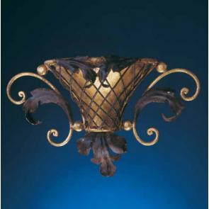 Applique florentine en forme d'amphore, fer forgé artisanal