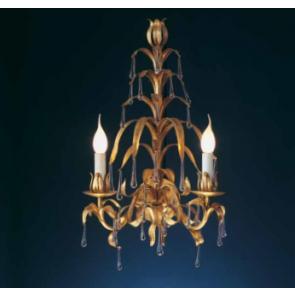 Applique en fer forgé artisanal florentin et pampilles